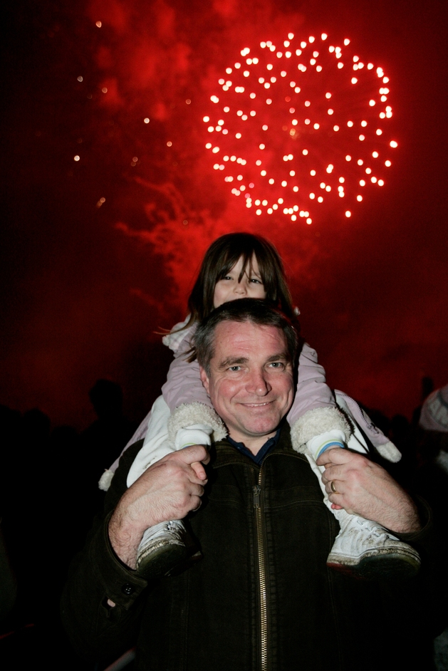 Victoria Park Fireworks - Lucy & Steve Oakley from Bow at Victoria Park Fireworks