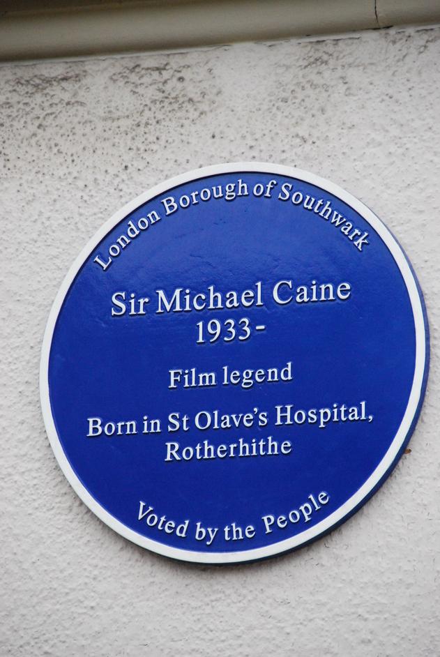 Southwark Park - Michale Cain Blue Plaque Off Southwark Park