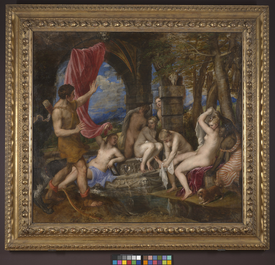 Metamorphosis: Titian 2012 - Titian,Diana and Actaeon,1556-9©Bought by National Gallery and National Galleries of Scotland with contributions from Scottish Government,National Heritage Memorial Fund,Monument Trust,Art Fund (contribution from Wolfson Foundation)and public appeal,2009