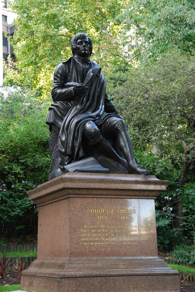 Victoria Embankment Gardens - Robert Burns Statue In Embankment Gardens