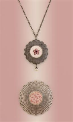 Dazzle - Jane Moore, enamelled silver pendants