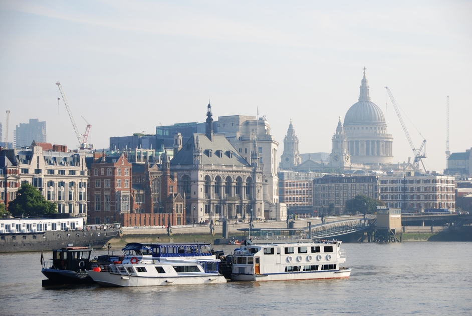 River Thames - View Of St Paul's Cathedral
