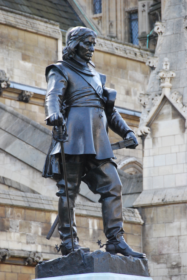 Houses of Parliament - Oliver Cromwell Statue Outside The Houses Of Parliament