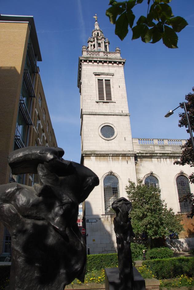 Upper Thames Street - St Michael Paternoster Royal Exterior