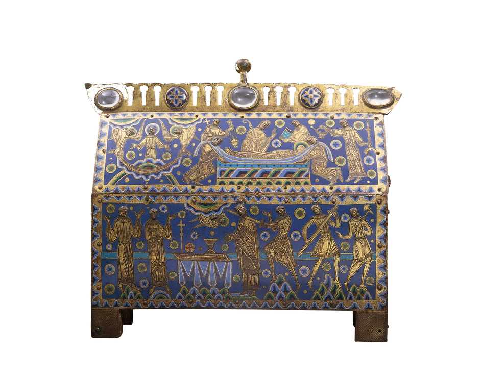 Victoria and Albert (V & A) Museum - Casket for the relics of St Thomas Becket, gilt, copper and champleve on a wooden core, France, about 1180 © Victoria and Albert Museum