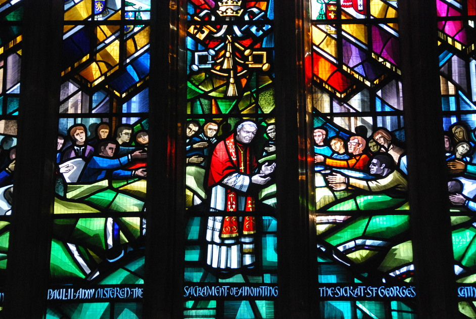 St George's Cathedral - St George's Cathedral Pope John Paul II Window