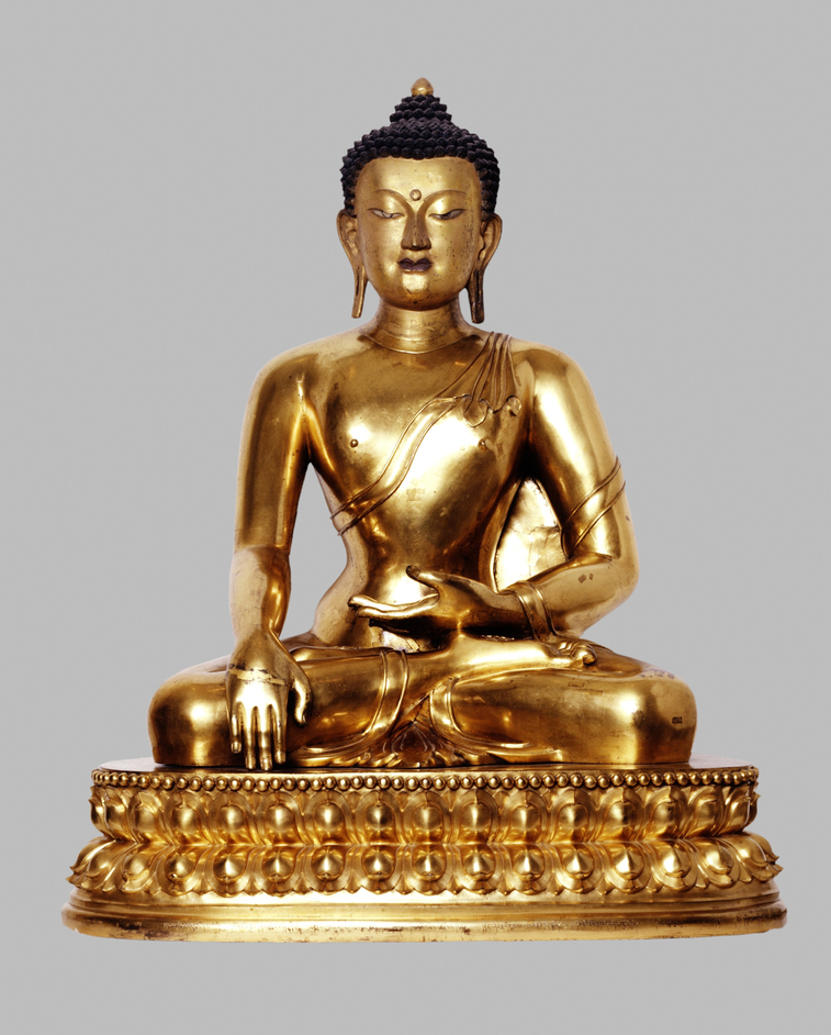 Victoria and Albert (V & A) Museum - Seated Buddha, 1700-1800 AD Tibet Gilded Copper � V & A Images