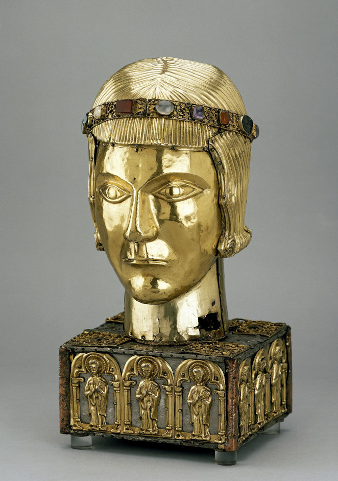 British Museum - The St Eustace Head Reliquary, c 1210 AD; made in Germany. Copyright The Trustees of the British Museum