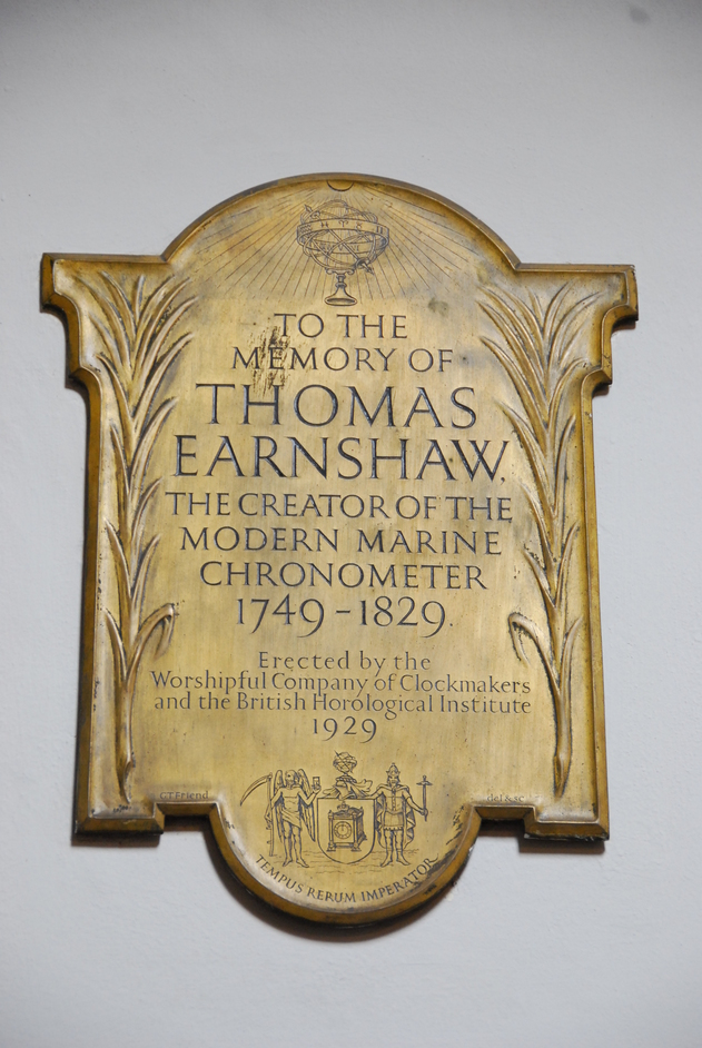 Denmark Street - St Giles-in-the-Fields Thomas Earnshaw Plaque