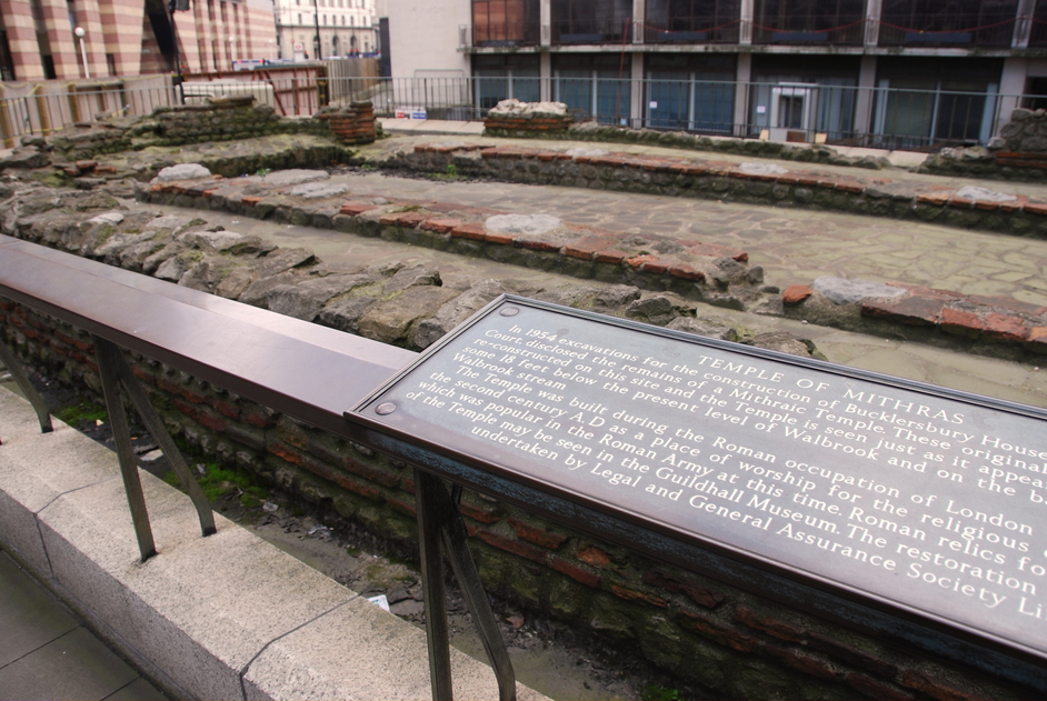 Temple Of Mithras London Nearby Hotels Shops And