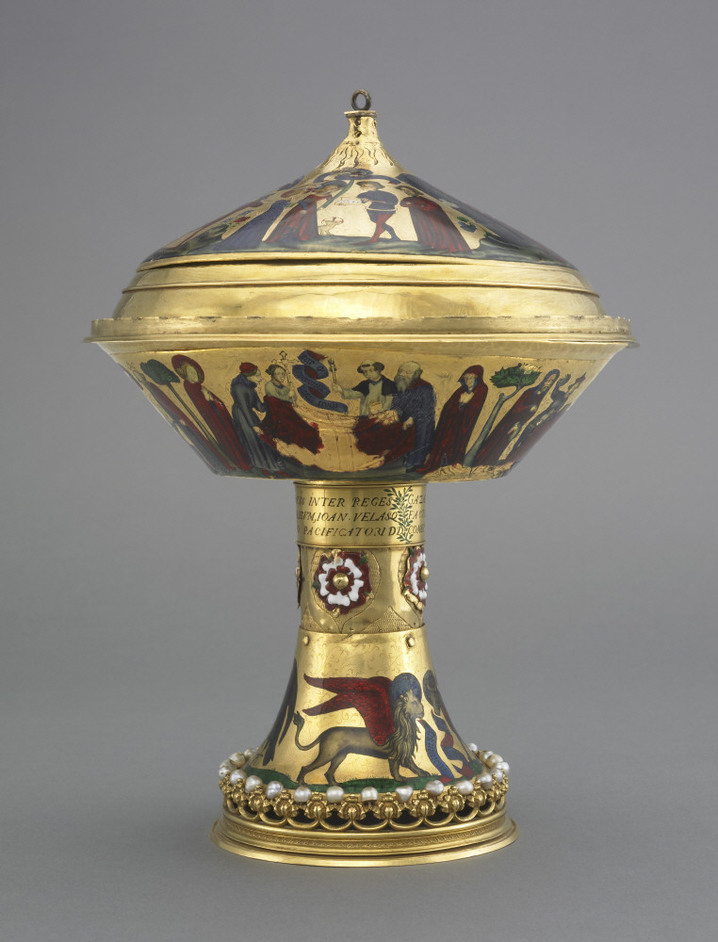 British Museum - The Royal Gold Cup, c 1370-80 AD; from Paris, France. Copyright The Trustees of the British Museum