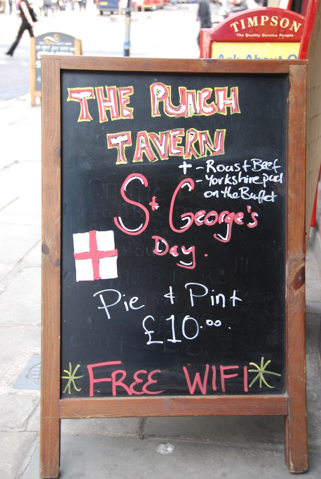 Punch Tavern - Punch Tavern St George's Sign