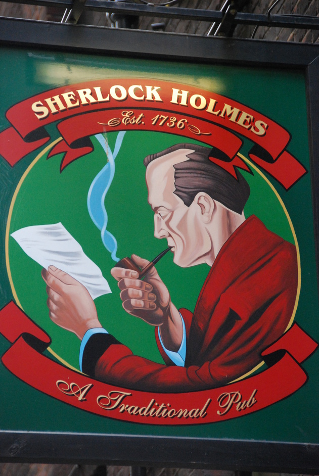 Northumberland Street - The Sherlock Holmes Sign