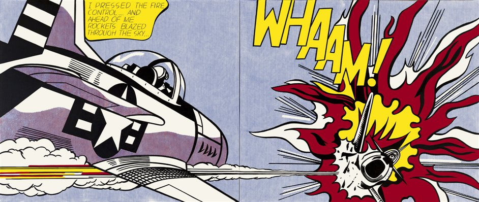 Lichtenstein: A Retrospective - Roy Lichtenstein, Whaam! 1963 Tate. © Estate of Roy Lichtenstein/DACS 2012