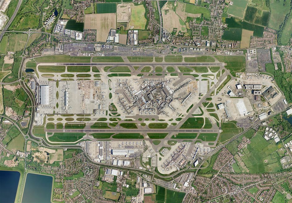 Heathrow Airport - Aerial view
