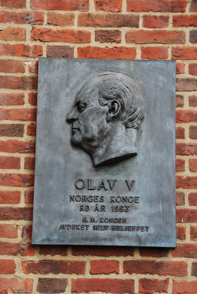 Norwegian Church and Seamen's Mission - King Olav V Plaque