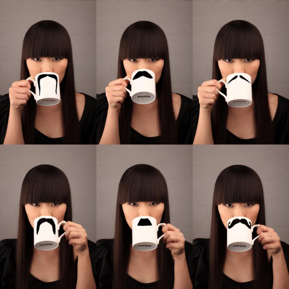 Hidden Art Christmas Design Fair - Peter Ibruegger Studio - moustache mug range