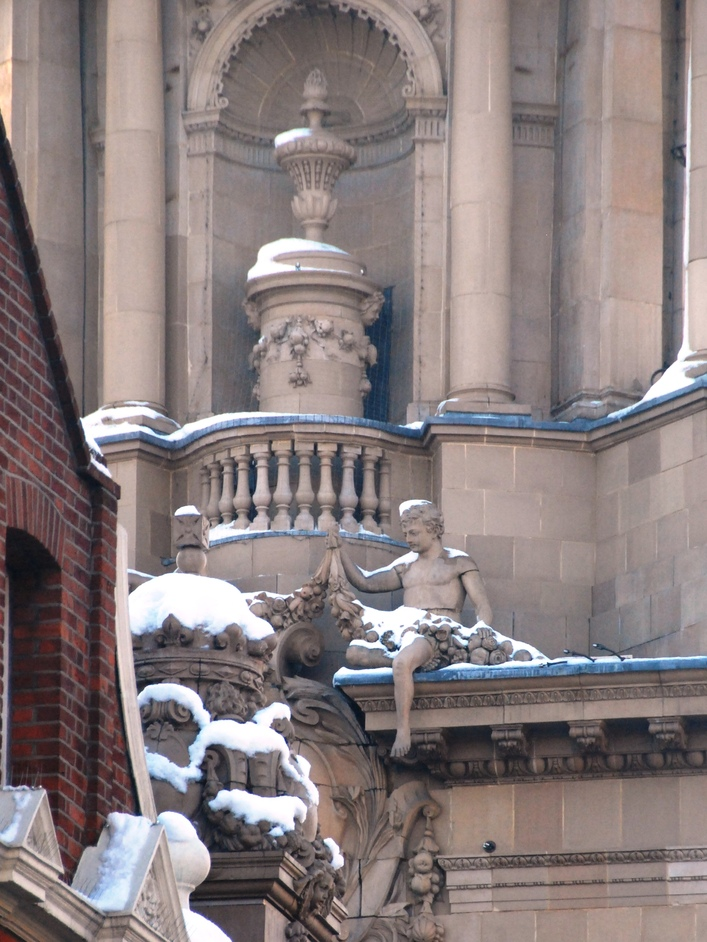 London Coliseum - English National Opera (ENO) - Snow On The Exterior Of The London Coliseum