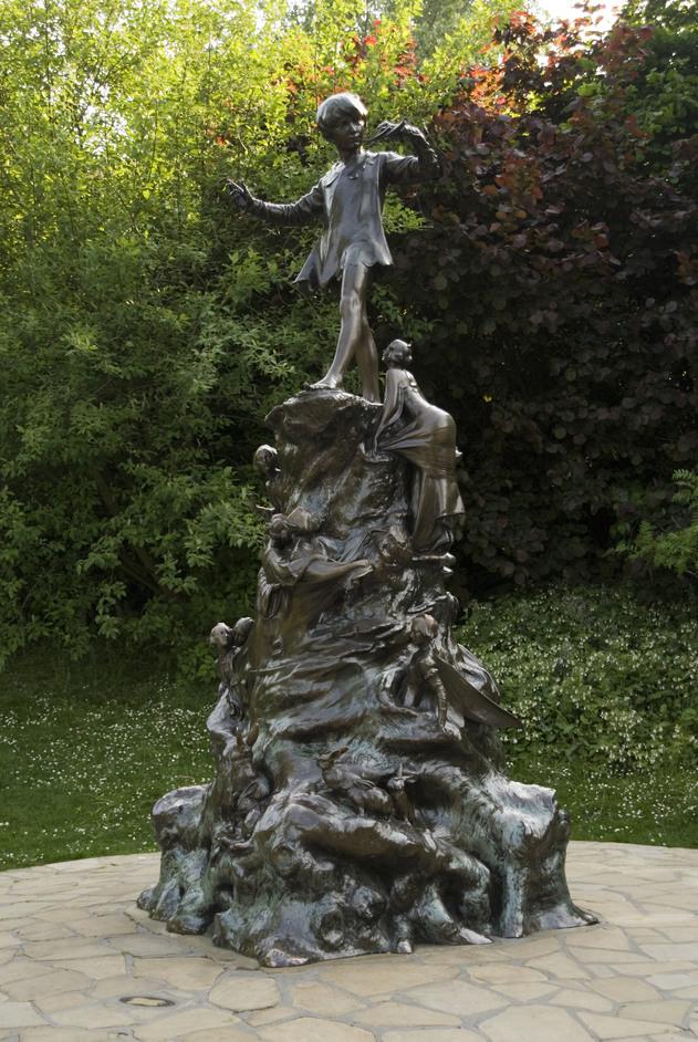 Kensington Gardens - Peter Pan statue, Kensington Gardens - by Anne Marie Briscombe