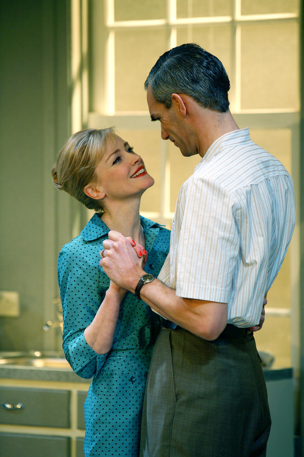 Table - Claire Skinner (Rita Affleck) and Angus Wright (Alfred Affleck) by Kevin Cummins