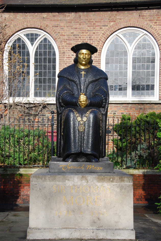 Chelsea Old Church - Statue of Sir Thomas More Outside Chelsea Old Church.