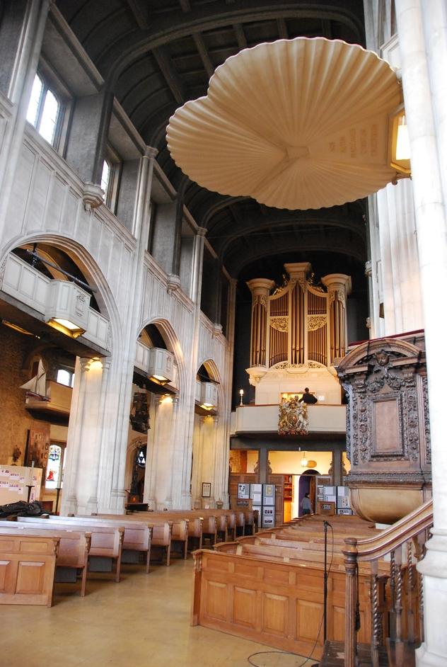 Lower Thames Street - Interior Of All Hallows By The Tower