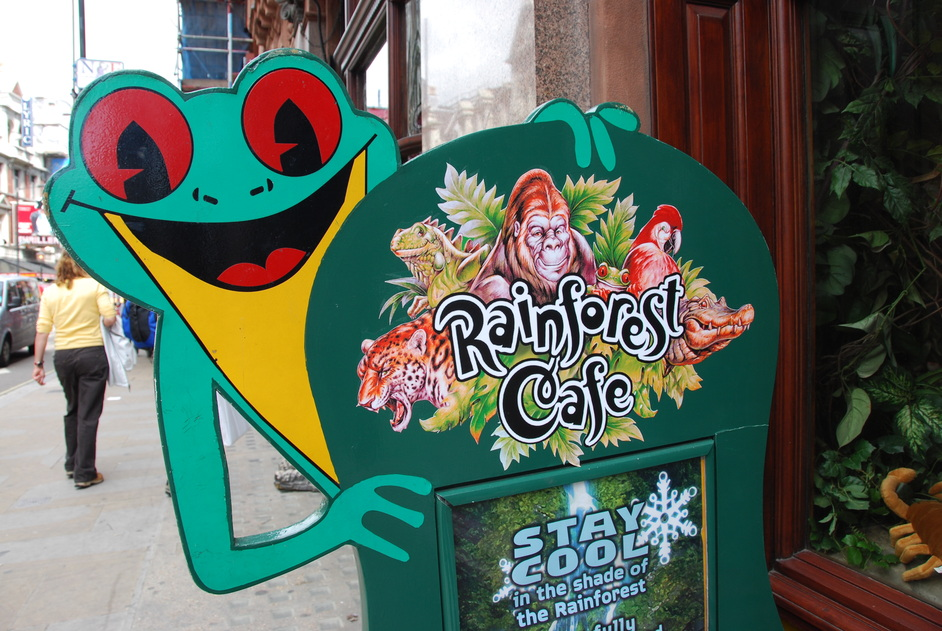 Rain forest cafe shaftesbury avenue online booking for Rainforest londra