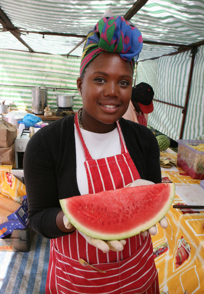 Lambeth Country Show - Watermellon stand, photo by James O'Jenkins