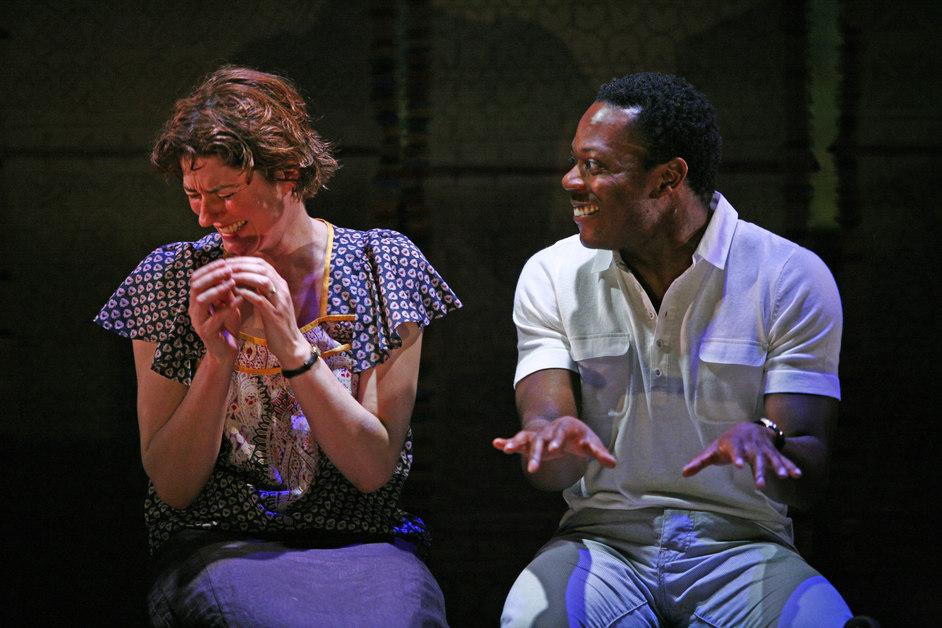 Table - Anna Chancellor (Fiona Russell) and Chuk Iwuji (Daniel Okeke)