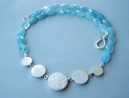 Dazzle - Naomi James, aquamarine coin necklace