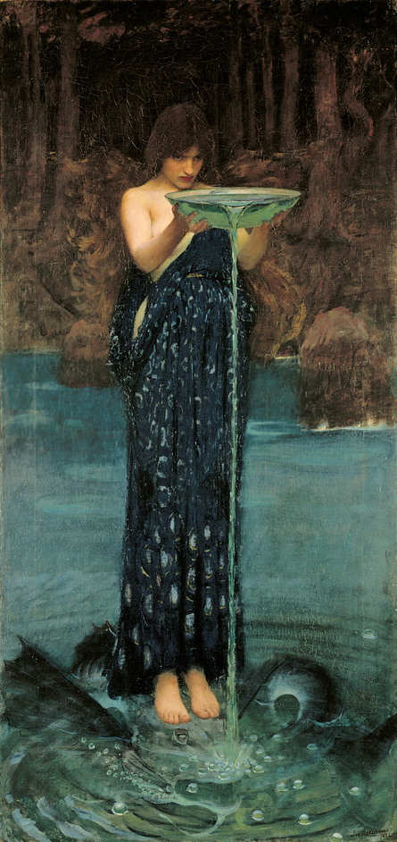 J w waterhouse the modern pre raphaelite images mayfair for Pre printed canvas to paint for adults