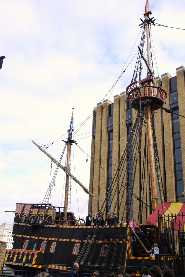 Cathedral Street - View Of The Golden Hinde