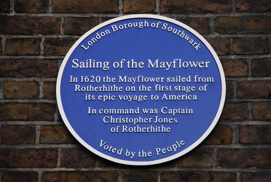St Mary's Church, Rotherhithe - St Mary's Rotherhithe Mayflower Plaque