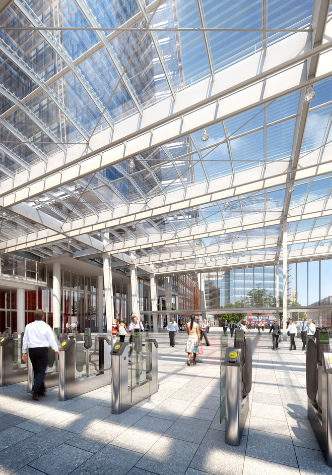 The Shard - London Bridge Station: concourse, photo courtesy of Sellar Property Group