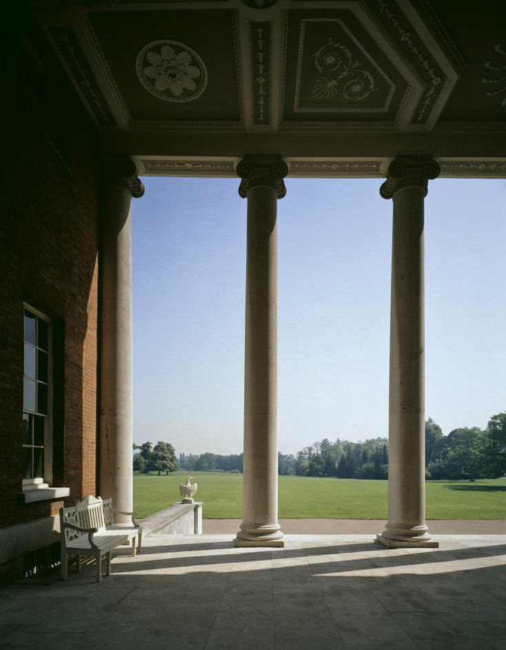 Osterley Park and House - Looking outward from the portico on the East Front of Osterley Park © NTPL / Rupert Truman