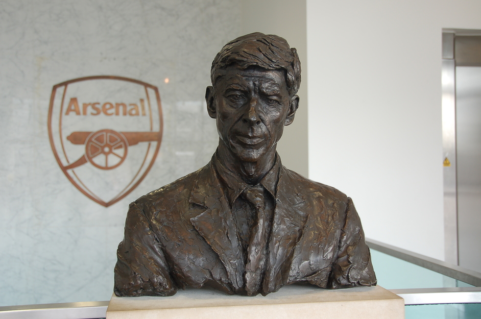 Emirates Stadium: Arsenal FC - Bust of Arsene Wenger
