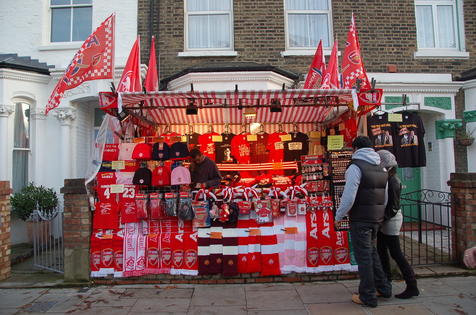 Emirates Stadium: Arsenal FC - An Arsenal Merchandise Stall Outside The Ground