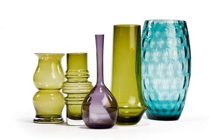 The Winter Decorative Antiques & Textiles Fair - Selection of glassware, Scandinavian, 1960s