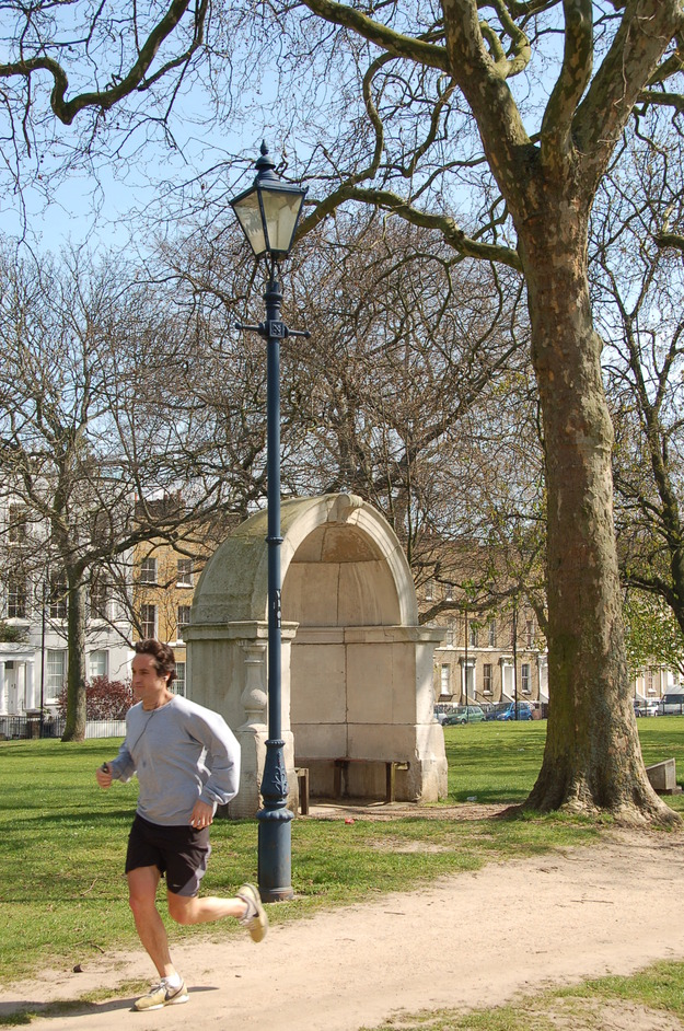 Victoria Park - One' Of The Two Old London Bridge Alcoves Placed In The Park