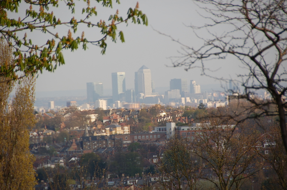 One Canada Square - View From Muswell Hill In North London