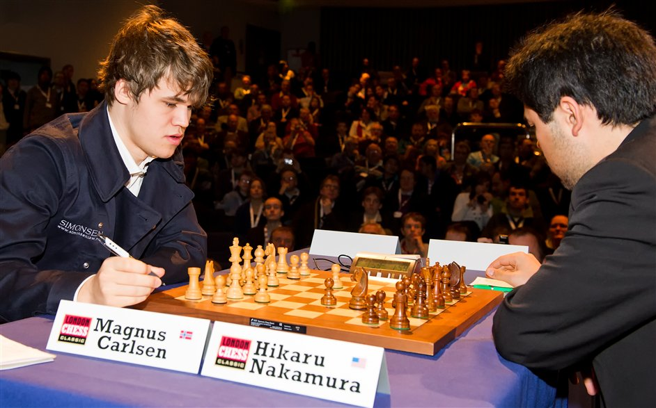 London Chess Classic - Magnus Carlsen and Hikaru Nakamura do battle