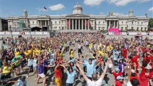 London: Cultural capital of the world - London 2012 Festival - the Big Dance at Trafalgar Square
