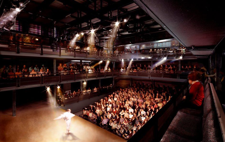 National Theatre: Dorfman Theatre - photo by Haworth Tompkins