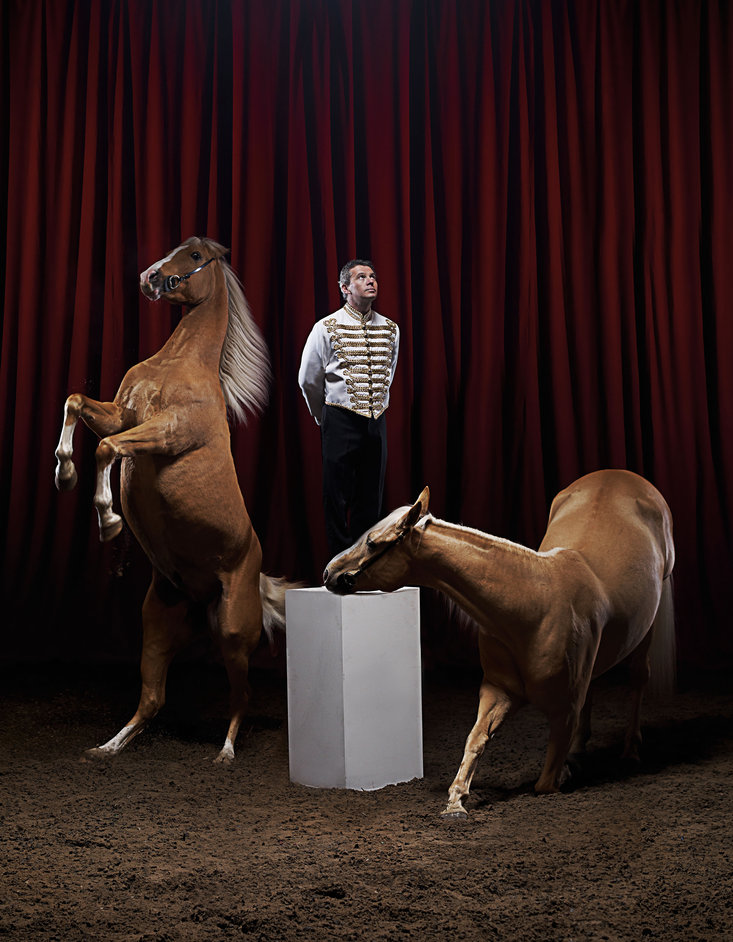 Zippos Circus: Celebration - Tom Roberts and horses, photo by Phil Fisk