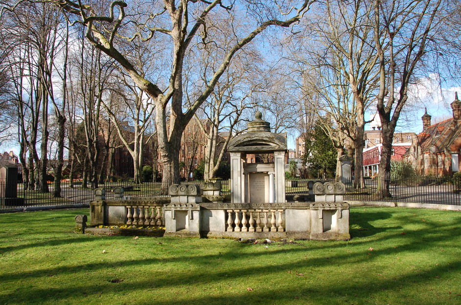 St Pancras Old Church and Gardens - The mausoleum of the celebrated architect Sir John Soane