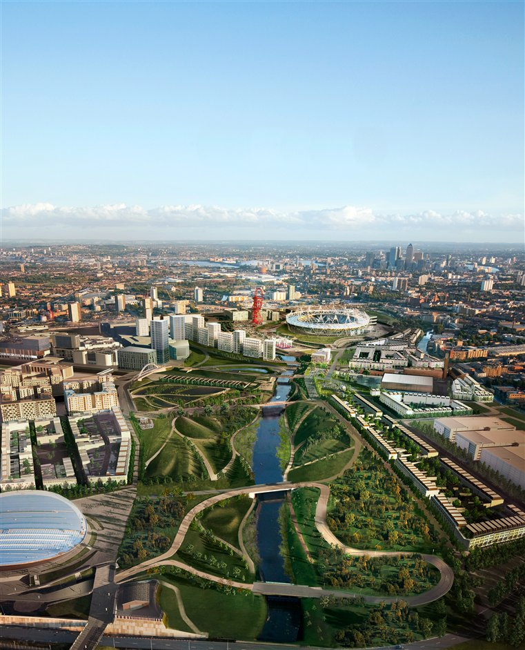 Queen Elizabeth Olympic Park - CGI impression of park