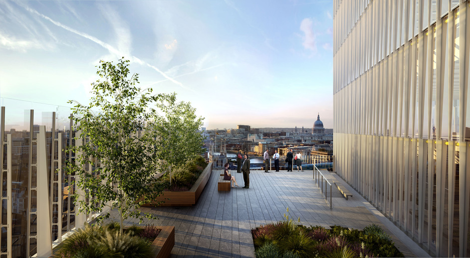The Shard - The Place roof terrace, photo courtesy of Sellar Property Group