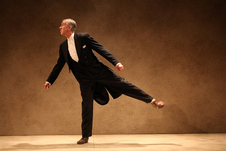 Dancing around Duchamp - Barry McGovern in a Gate Theatre production of Watt by Samuel Beckett, � Anthony Woods