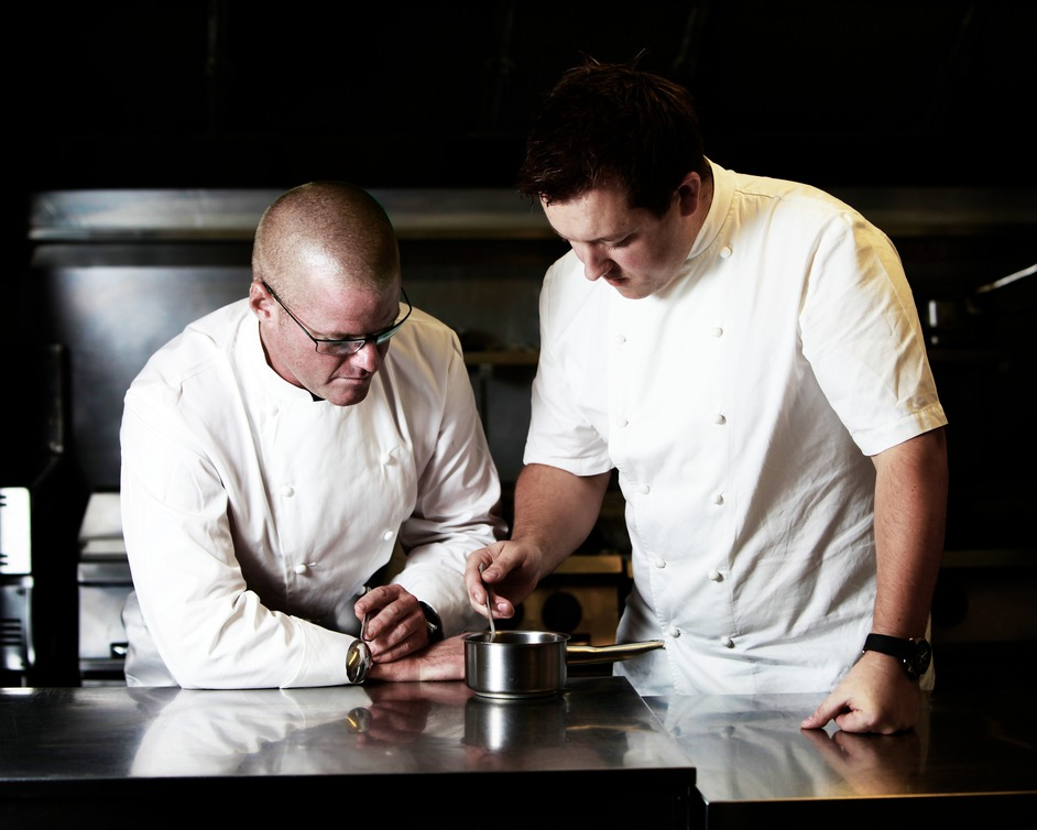 The Perfectionists' Cafe - Heston Blumenthal and Ashley Palmer-Watts, photo credit Eddie Judd