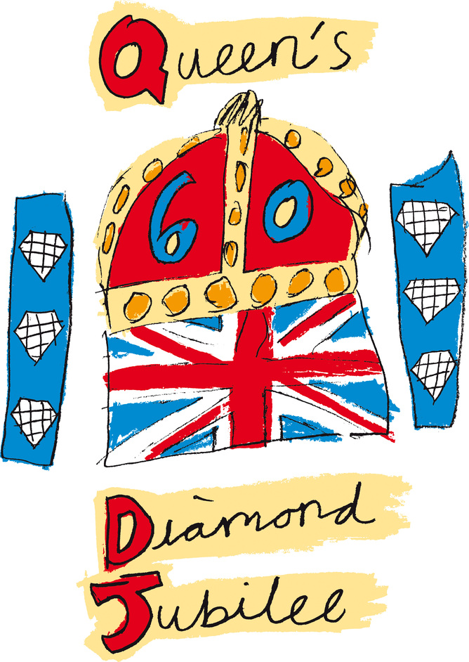 The Queen's Diamond Jubilee - The Queen's Diamond Jubilee emblem, designed by 10-year-old Katherine Dewar, from Chester